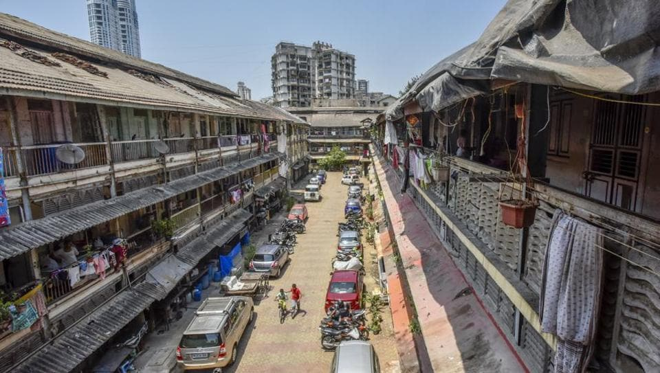 Dattatreya Chawl at Grant Road in Mumbai. Chawls were first built in 1900, when the then British government encouraged many traders to set up textile mills here.