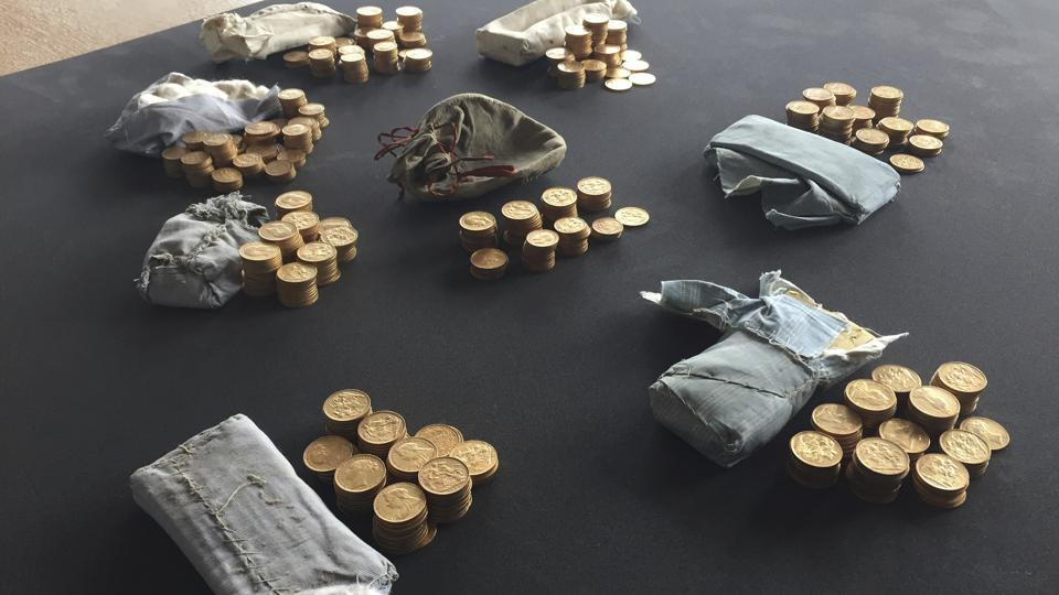 Treasure found,Gold inside piano,British Museum