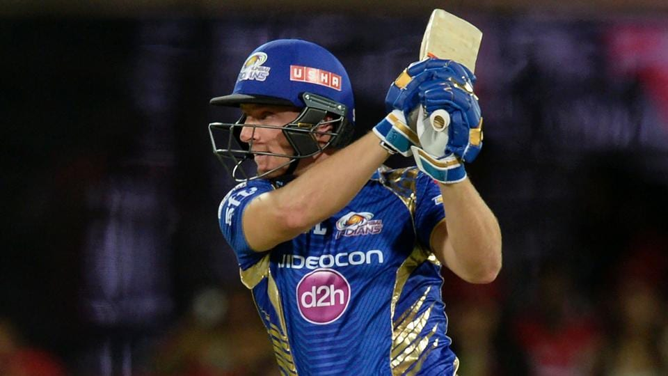 Jos Buttler en route to scoring 77 for Mumbai Indians against Kings XI Punjab in an Indian Premier League (IPL) match.