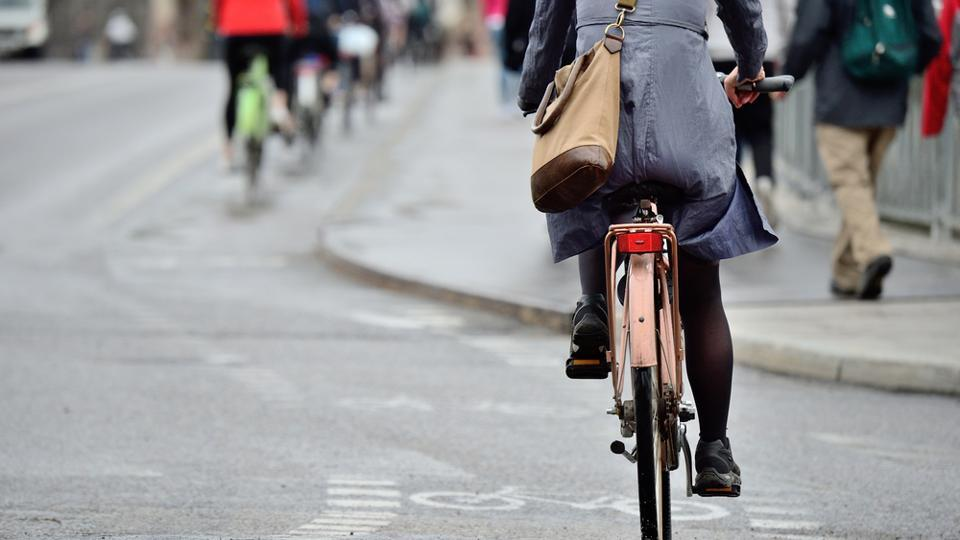 Cycling to work is a great way to maintain good health.