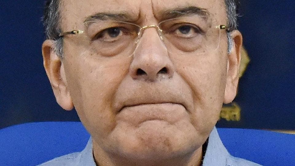 New Delhi: Finance Minister Arun Jaitley at a press conference after cabinet meeting in New Delhi on Wednesday. PTI Photo by Vijay Kumar Joshi(PTI4_19_2017_000080B)
