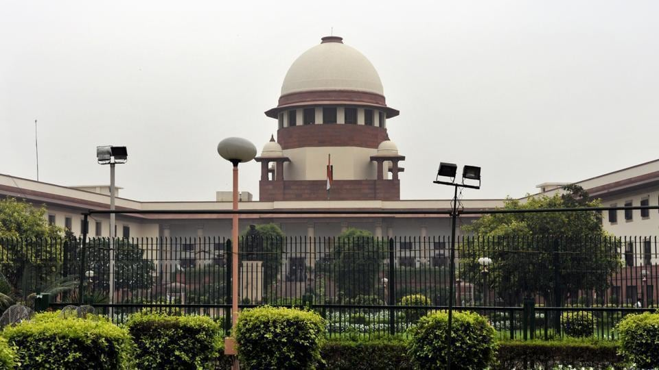 A view of the Supreme Court building.