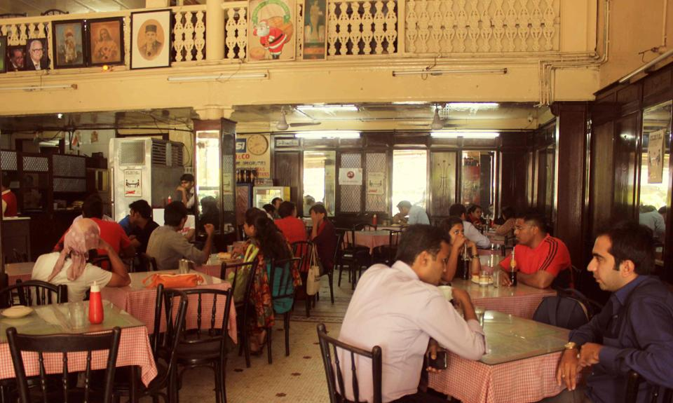 The Kyani & Co restaurant at Metro, Dhobi Talao, Mumbai.