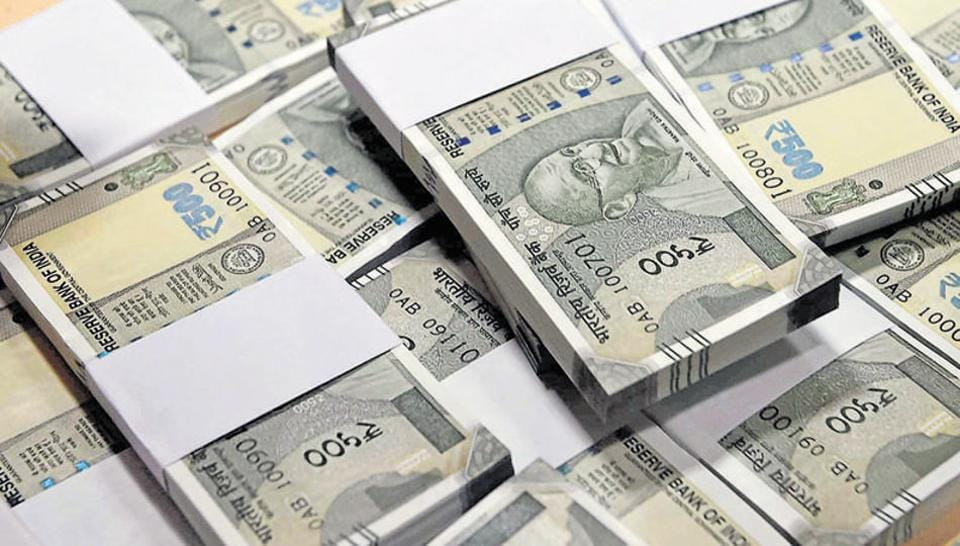 The income tax department conducted a raid at the residence of additional commissioner sales tax Keshav Lal on Wednesday night and seized unaccounted cash worth over Rs 18 crore in new currency notes.
