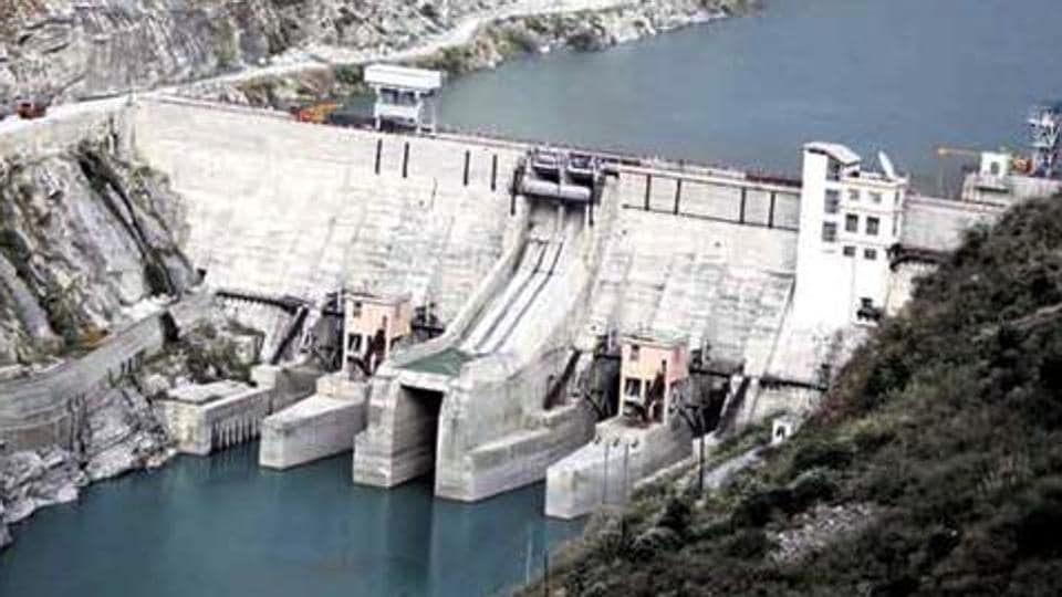 A view of the Nathpa Jhakri hydroelectric project in Shimla. Renewable energy sources will account for 56.5 % of India's installed power capacity by 2027.