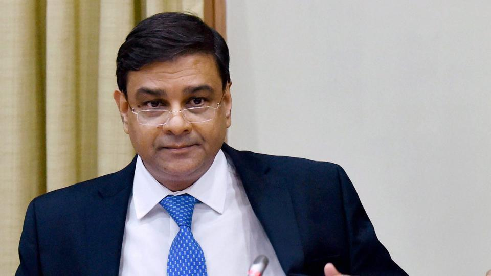 RBI governor Urjit Patel at a press conference.
