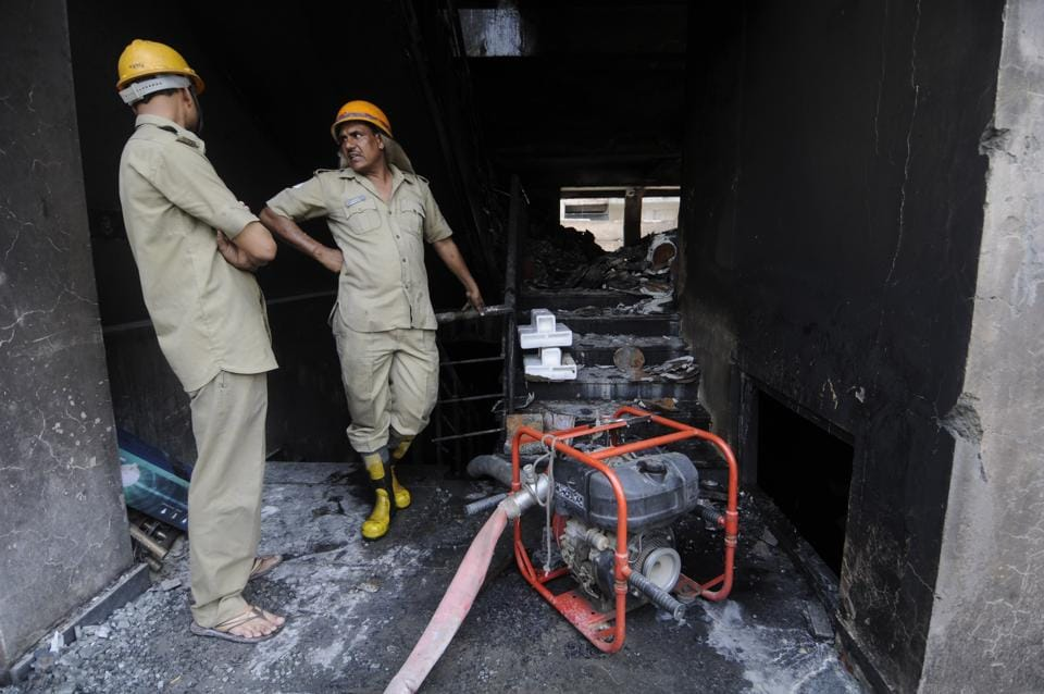 There are nearly 8,000 industrial units engaged in manufacturing inflammable materials — electronics goods, chemicals, engineering tools, machinery, garments, plastic mouldings and corrugations — in Noida.