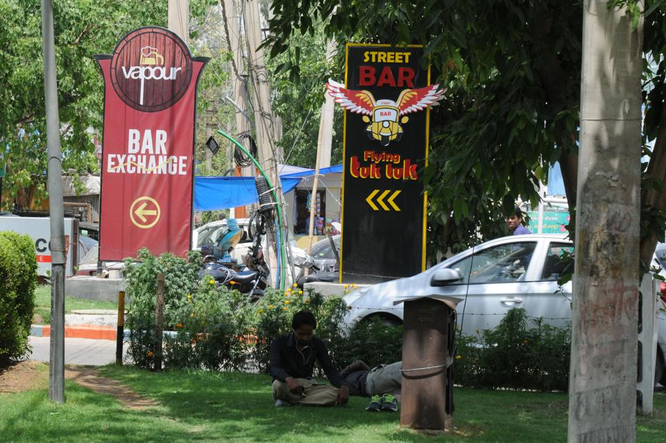 Vapour bar in Sector 48, three pubs in Sector 30 and one on Sohna Road were found to be outside the safe zone.