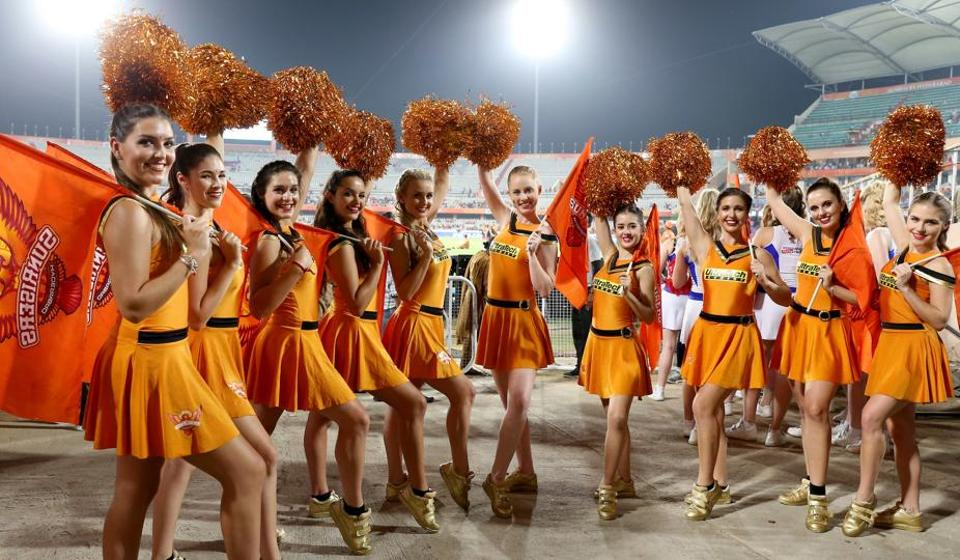 SRH's cheerleaders get ready to boost their team's morale.  (BCCI )