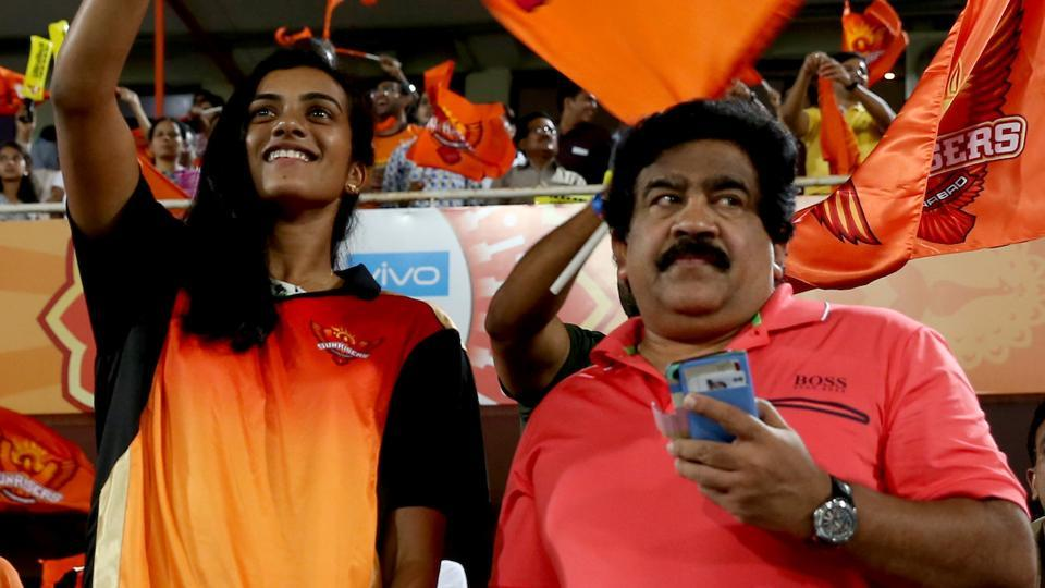 This was the first time PV Sindhu was seen attending an IPL 2017 game live.  (BCCI )