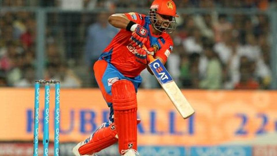 Suresh Raina scored 84 for Gujarat Lions against Kolkata Knight Riders in a 2017 Indian Premier League Twenty20 match at the Eden Gardens on Friday.