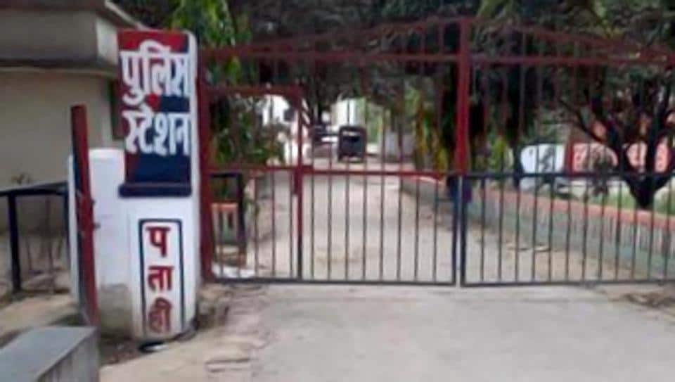 The police station at Patahi village in Bihar's East Champaran district where a molestation case has been registered against a two-year-old boy.