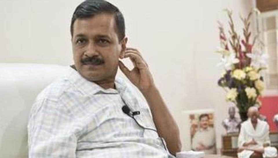 Delhi chief minister Arvind Kejriwal during an interview with HT in New Delhi.