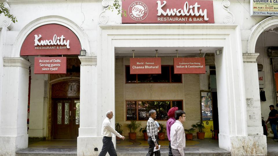 The Kwality restaurant in the Regal Building, was first set up as an ice cream and snack parlour in 1940. They were the first to bring Kwality ice cream to India. (Anmol Wahi/HT Photo)