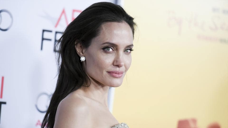 Angelina Jolie arrives at the 2015 AFI Fest opening night premiere of By The Sea, in Los Angeles.