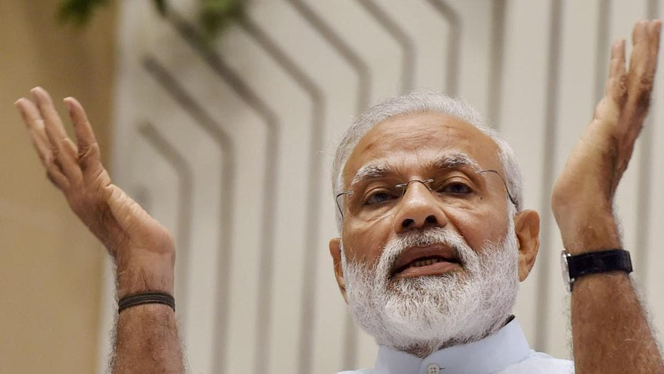 New Delhi: Prime Minister Narendra Modi speaks during the Civil Services Day 2017 function in New Delhi on Friday.