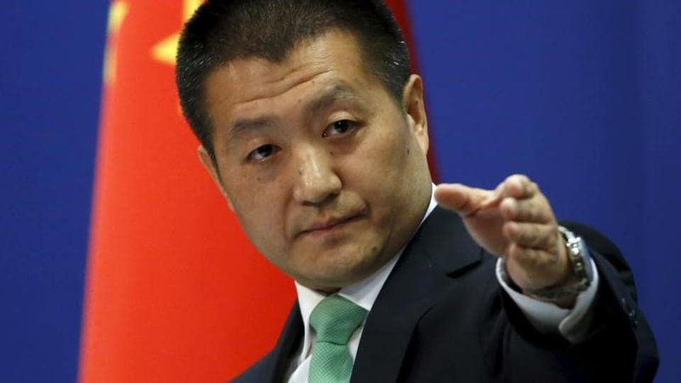 Chinese foreign ministry spokesman Lu Kang at a news conference in Beijing in October 2015. Beijing says Arunachal Pradesh is part of South Tibet with close Buddhist links, and its official map show the state as part of South Tibet.