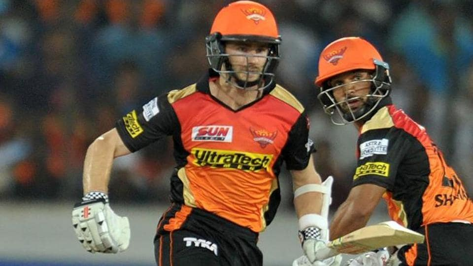 Sunrisers Hyderabad's Kane Williamson (left) scored a 51-ball 89 against Delhi Daredevils in their last Indian Premier League 2017 match in Hyderabad on Wednesday.