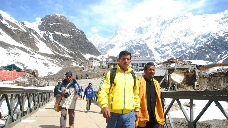 A view of Kedarnath route.