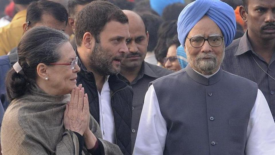 Many believe former prime minister Manmohan Singh (seen here with Congress leaders Sonia Gandhi and Rahul Gandhi) is a worthy candidate for the President's post.