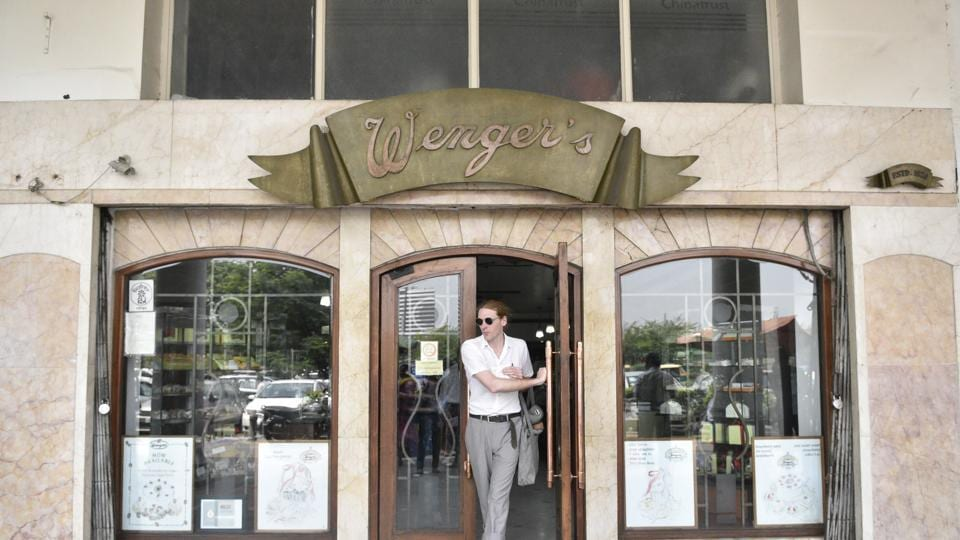 Wenger's started in 1926 and was the first bakery to be established in Connaught Place. The bakery currently sells 25 types of chocolates. (Anmol Wahi/HT Photo)