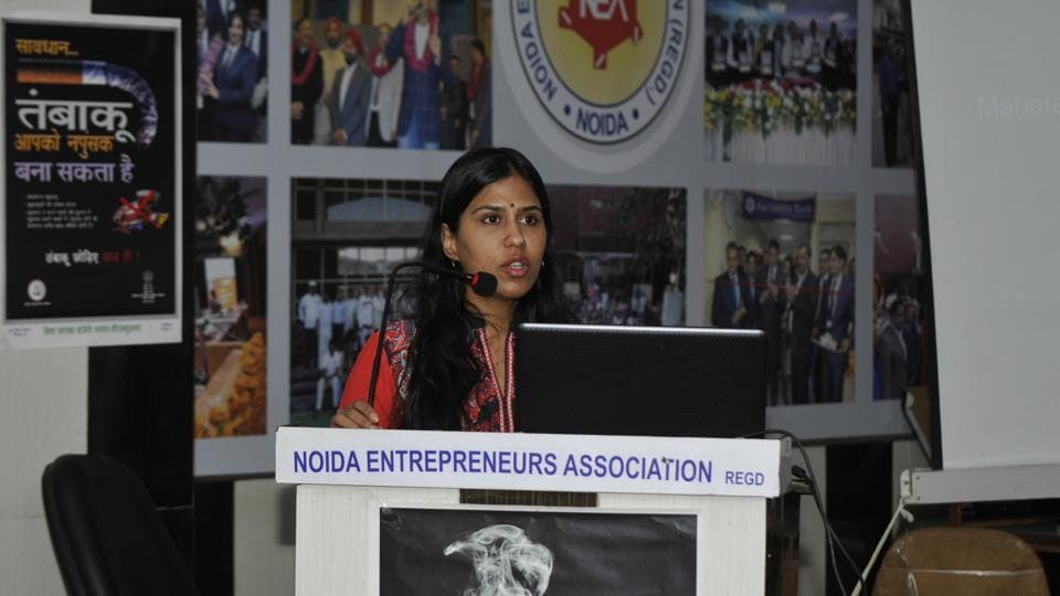 Dr Shweta Khurana, district consultant, DTCC, gave an audio-visual presentation on the national tobacco control programme.