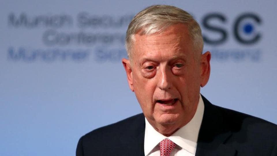 US defence secretary and Pentagon chief Jim Mattis.