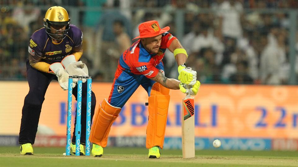 Brendon McCullum of Gujarat Lions gave the visitors a flying start with 33 off 17 balls.  (BCCI)