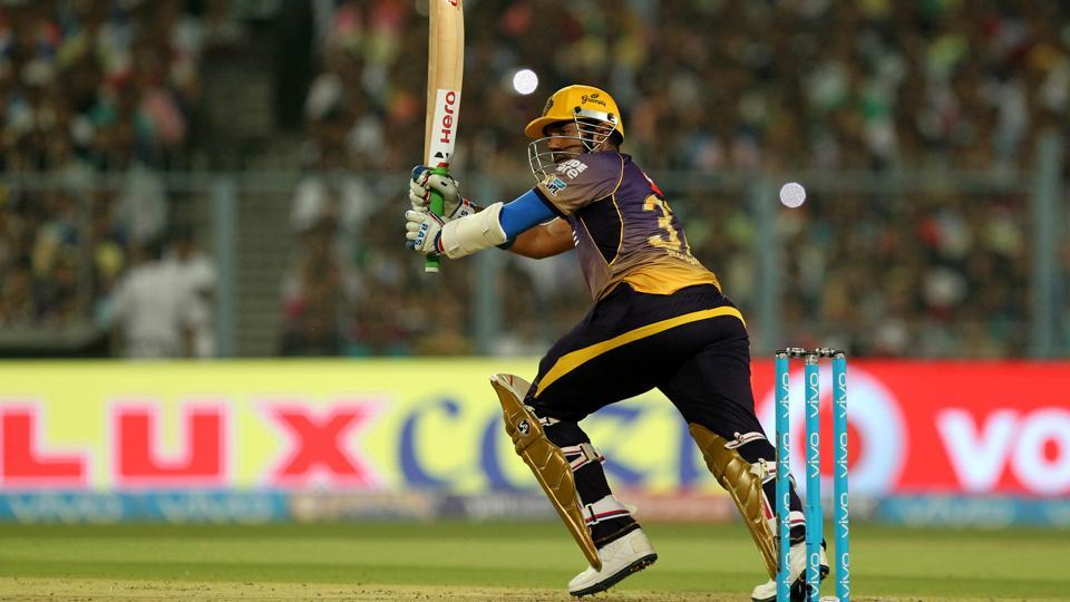 Robin Uthappa came after Narine's dismissal to up the ante and build on the quick start. He scored 72 to guide KKR to an imposing 187/5.  (BCCI)