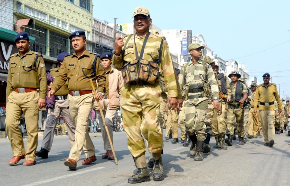 Security has been beefed up at Taj Mahal, the high court in Allahabad and its Lucknow bench, the assembly and secretariat buildings and other important government offices in Lucknow.