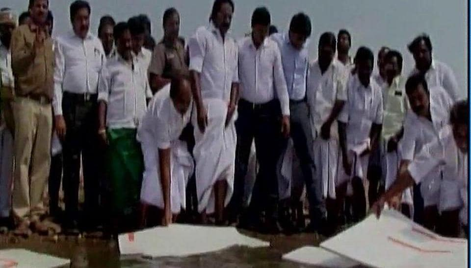 Tamil Nadu minister floated Rs10 lakh worth thermocol sheets in Vaigai reservoir to prevent loss of water due to evaporation.