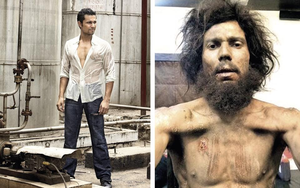 Randeep Hooda lost about 18 odd kilos that month, and the weight kept dropping even after that because by then, he couldn't eat