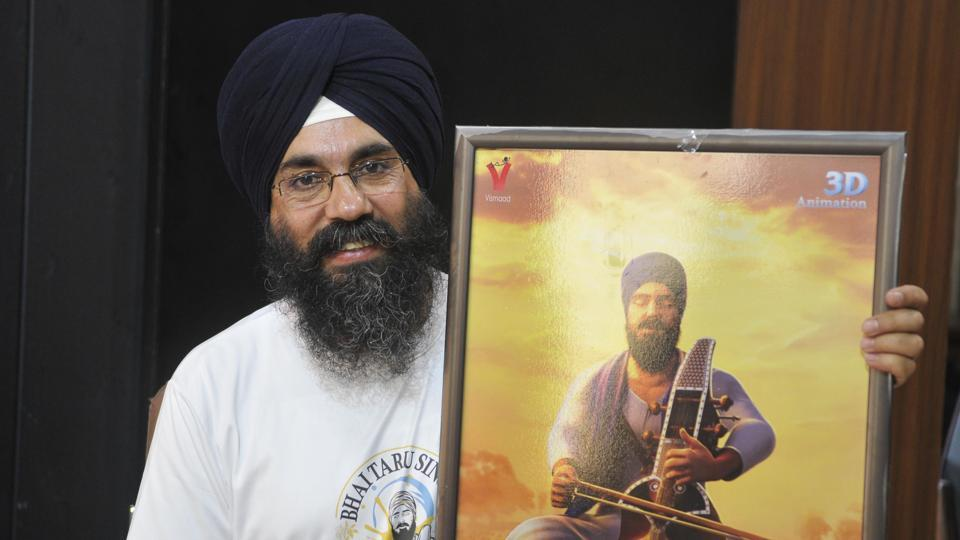Film director  Sukhwinder Singh presenting the poster at the Press Club in Chandigarh onFriday.