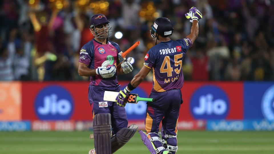 Mahendra Singh Dhoni's unbeaten 34-ball 61 helped Rising Pune Supergiant clinch a last-ball thriller vs Sunrisers Hyderabad by six wickets at the Maharashtra Cricket Association Stadium.  (BCCI )