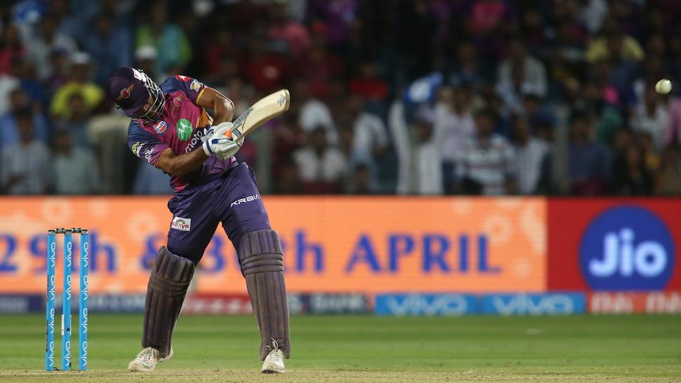 Mahendra Singh Dhoni, who had just 61 runs under his belt before this game, stepped up to the plate as his unbeaten 34-ball 61 helped Rising Pune Supergiant jump from last place to fourth in standings. (BCCI )
