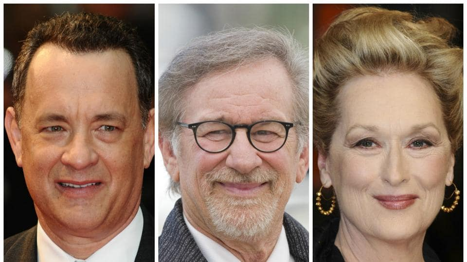 Streep and Spielberg, 70, have previously worked together on AI, while Hanks and the director have collaborated on a number of projects, most recent being Bridge of Spies.