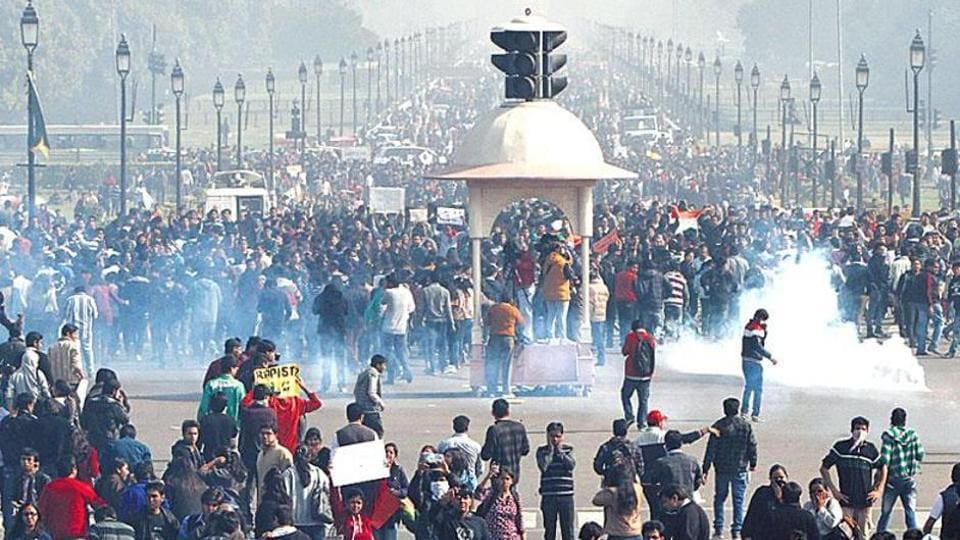 People protest in Delhi after the December 16, 2012 gangrape which reignited the debate over juvenile crimes.