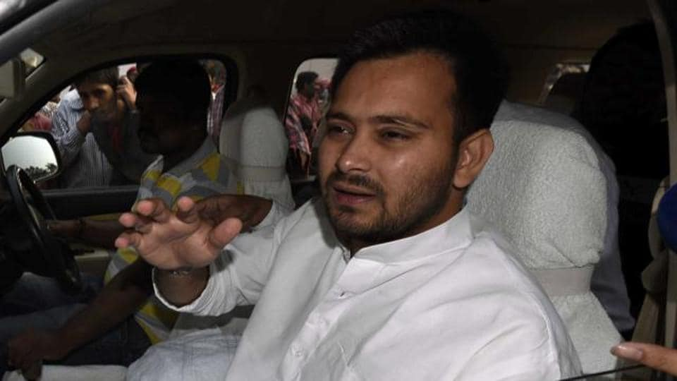 RJD president Lalu Prasad's son and Bihar deputy chief minister Tejashwi Prasad Yadav.