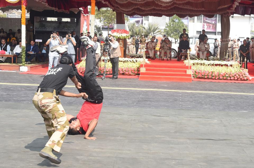 CISF personnel during a training session.
