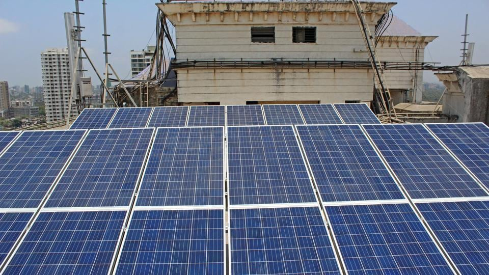 Setup at a cost of Rs 7.5 lakh earlier this month, the 32 panels with solar photovoltaic cells will substantially reduce the society's  monthly electricity bill