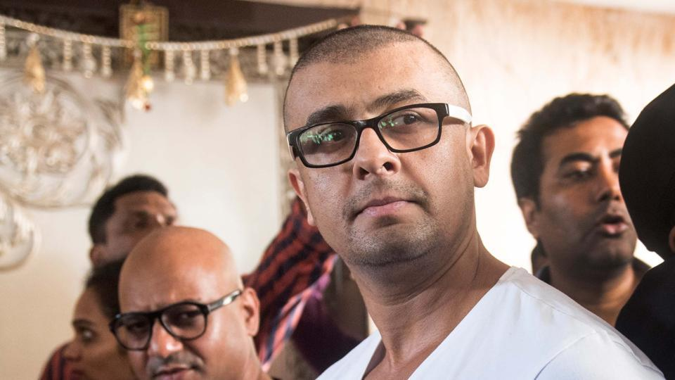 Bollywood singer Sonu Nigam has invited the press to be present as he has his head shaved after a Muslim cleric announced a reward of Rs 10 lakh to anybody who could tonsure the singer, on April 19, 2017 in Mumbai, India.