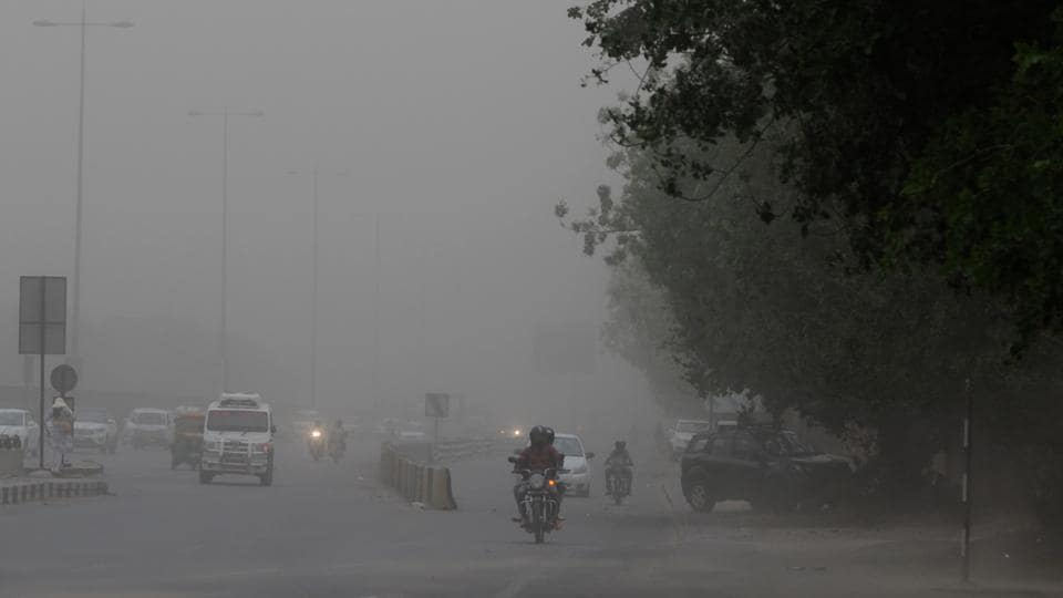 IMD officials said that there is also a possibility of a dust storm and thundershowers on Monday.