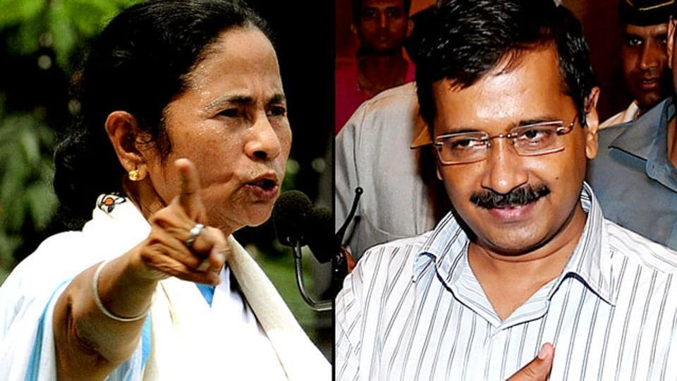 Chief ministers Mamata Banerjee of West Bengal  and Arvind Kejriwal of Delhi were absent from the Niti Aayog Governing Council meet held in New Delhi on Sunday.