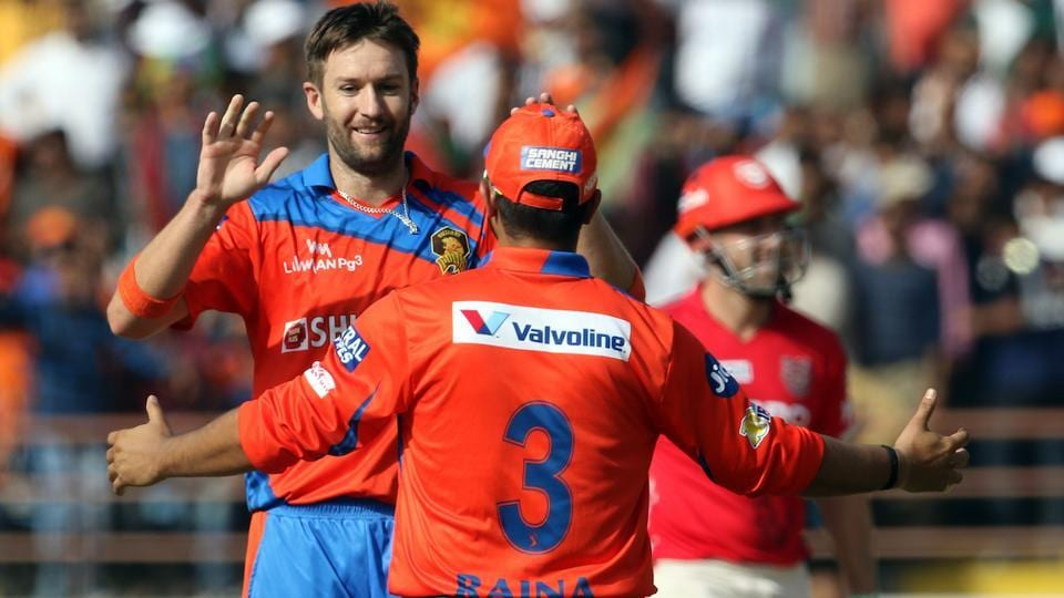 Andrew Tye, Gujarat Lions' highest wicket-taker in the tournament, then removed the dangerous looking Marsh for 30(24).  (BCCI )
