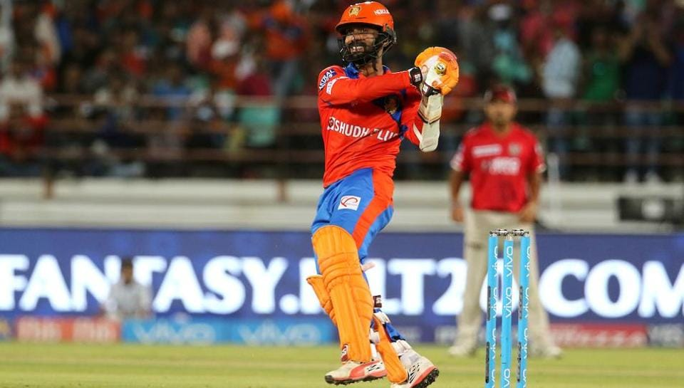Dinesh Karthik tried his best to get Gujarat Lions back on track (with his 13th fifty) but ran out of partners.  (BCCI )