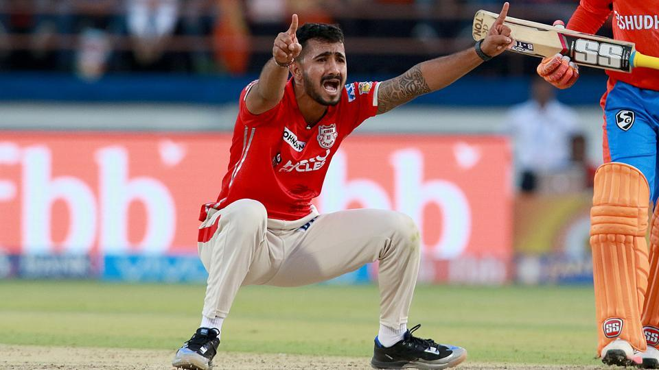 KC Cariappa of Kings XI Punjab appeals during their 2017 Indian Premier League match against Gujarat Lions at the Saurashtra Cricket Association Stadium in Rajkot on Sunday.