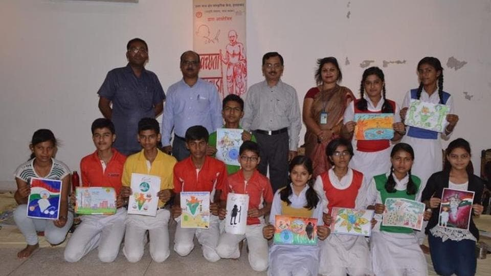 School children participating in essay competition at NCZCC.