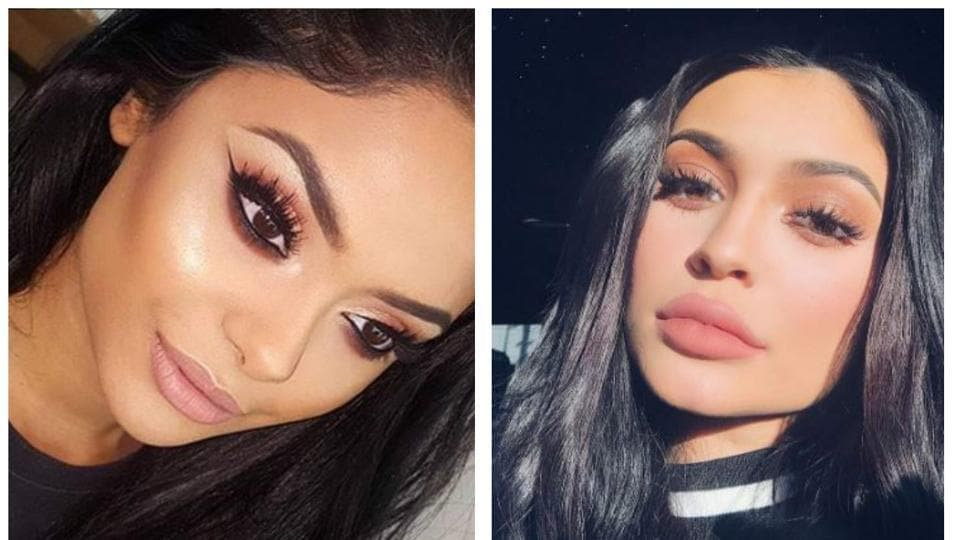 Afshan Azad's pictures are going viral on social media for being Kylie Jenner's lookalike
