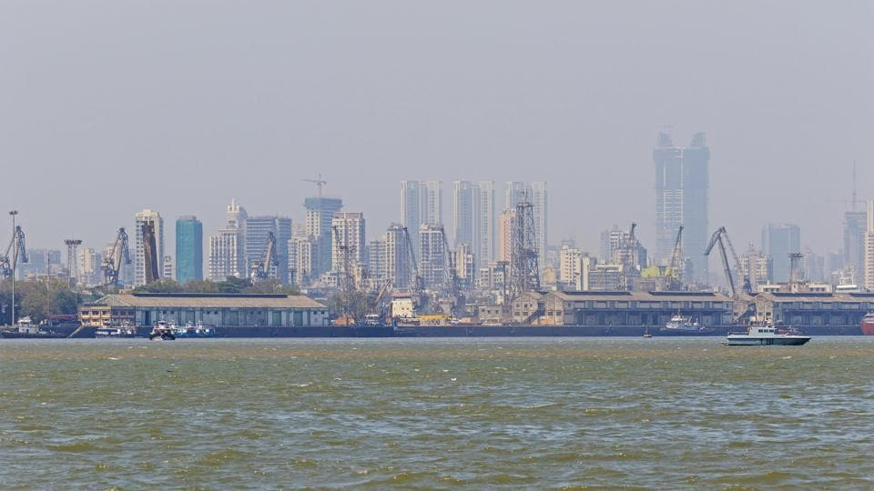 A view of the Mumbai Harbour.