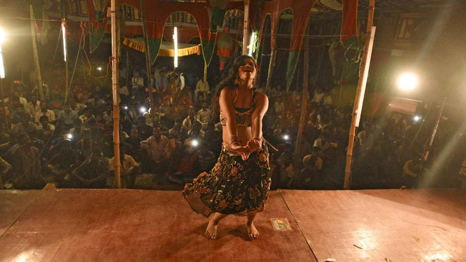 Pooja is unapologetic about her profession and demands respect as much as money. In fact, that holds true for the hundreds of stage dancers who are an integral part of Bihar's live entertainment trade. (Ravi Choudhary/HT PHOTO)